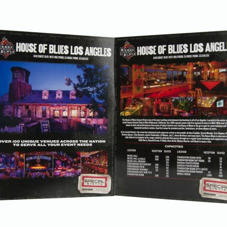 House Of Blues Promotional Materials By InkCentric